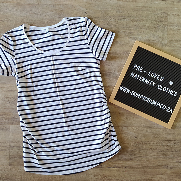 Black and White Stripes Short Sleeve Top