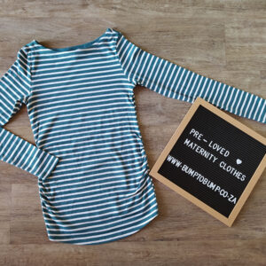 Green and White Stripes Long Sleeve Shirt